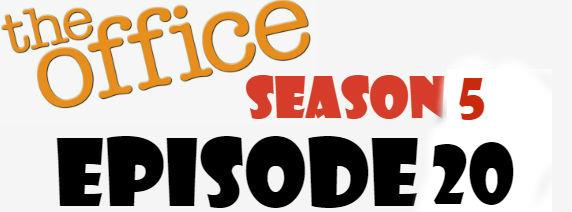 The Office Season 5 Episode 20 TV Series