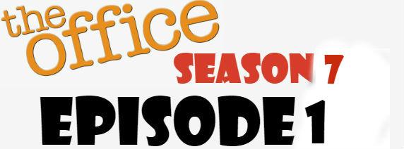 The Office Season 7 Episode 1 TV Series