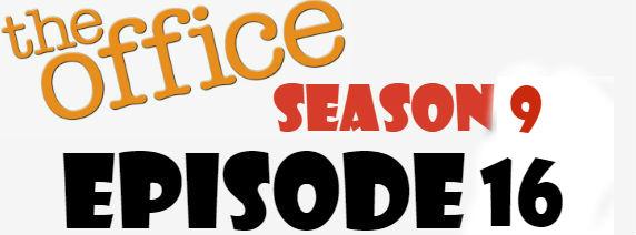 The Office Season 9 Episode 16 TV Series